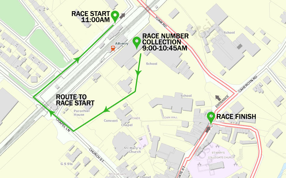 How to get to the race start...